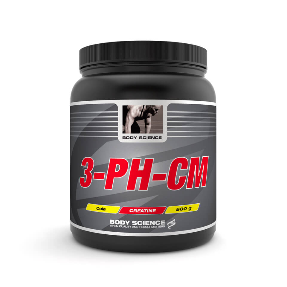Kreatin – 3-pH-CM Pulver Body Science, 500 g, Cola - Kreatin monohydrat - Body Science