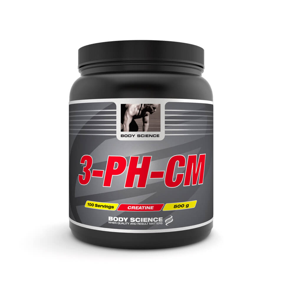 Kreatin – 3-pH-CM Pulver Body Science, 500 g, Natural - Kreatin monohydrat - Body Science