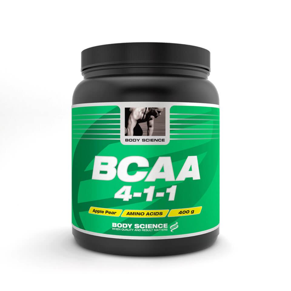 BCAA 4-1-1 Body Science, 400 g, Äpple/Päron - Aminosyror - Body Science