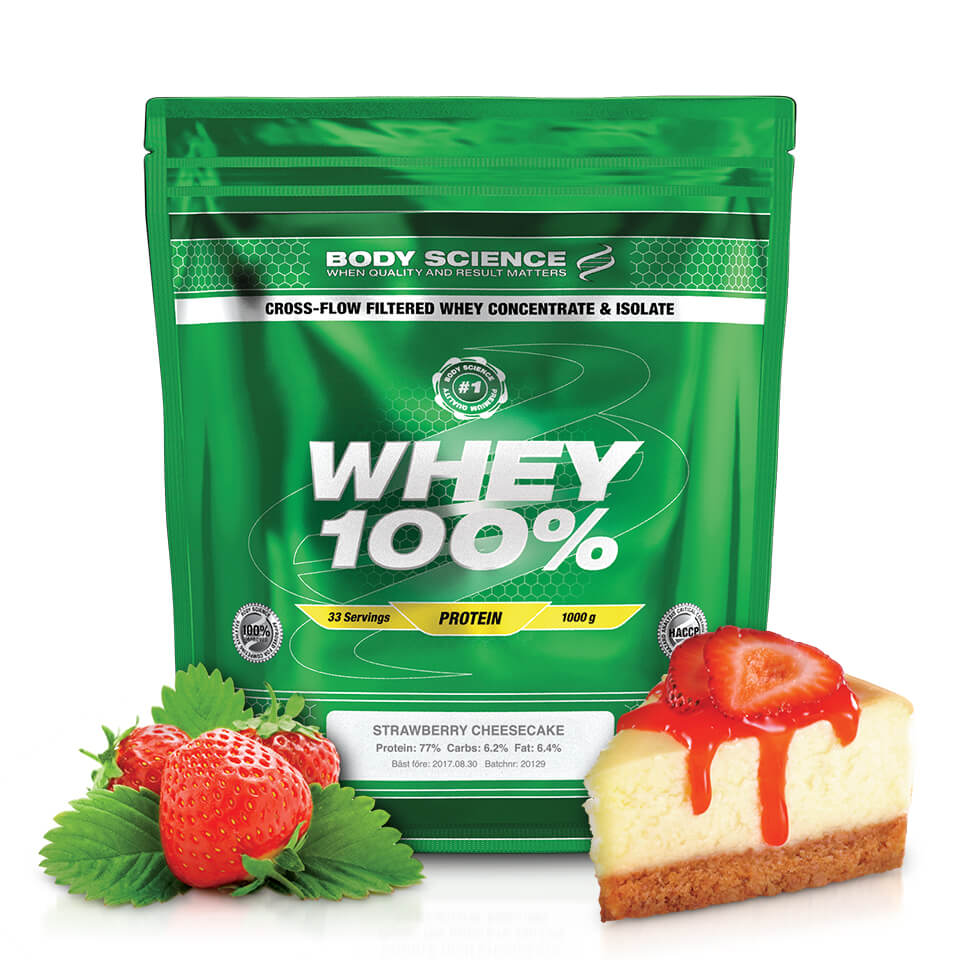 Body Science Whey 100% Strawberry Cheesecake