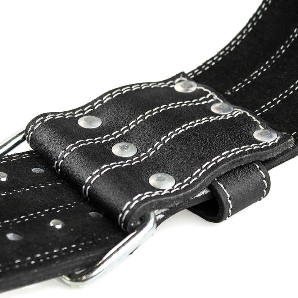 Body Science Leather Belt lyftarbälte baksida spänne