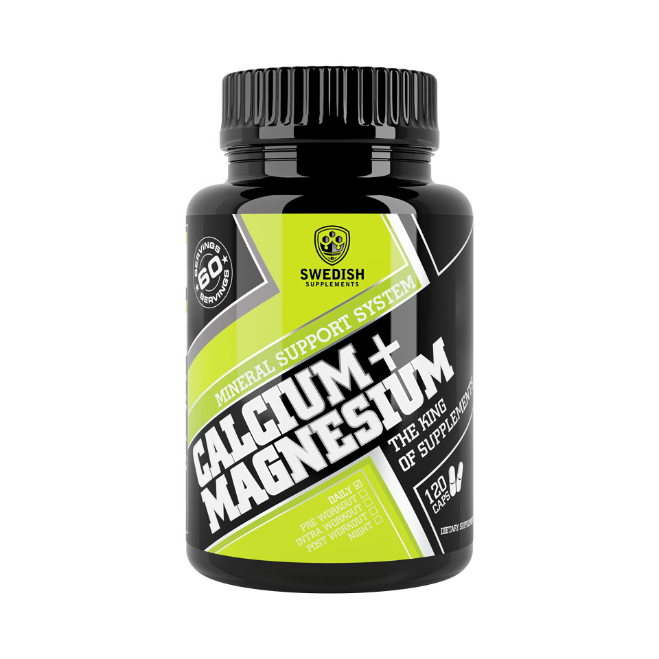 Swedish Supplements Calcium Magnesium 120 kapslar - Swedish Supplements