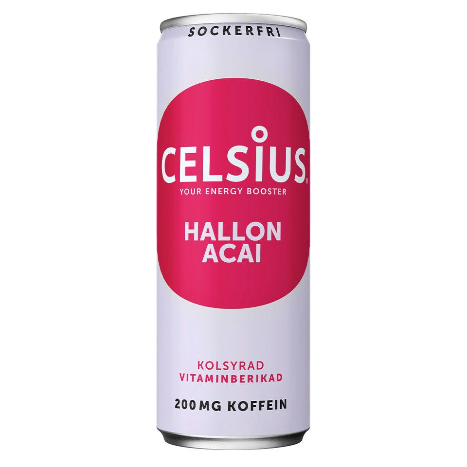 Celsius energidryck med smak av Hallon/Acai