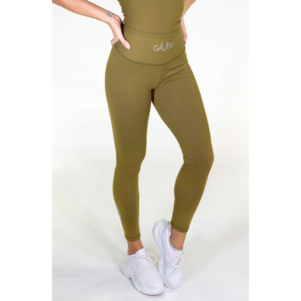 Gavelo Pop Tights Scrunch, Army Green träningstights