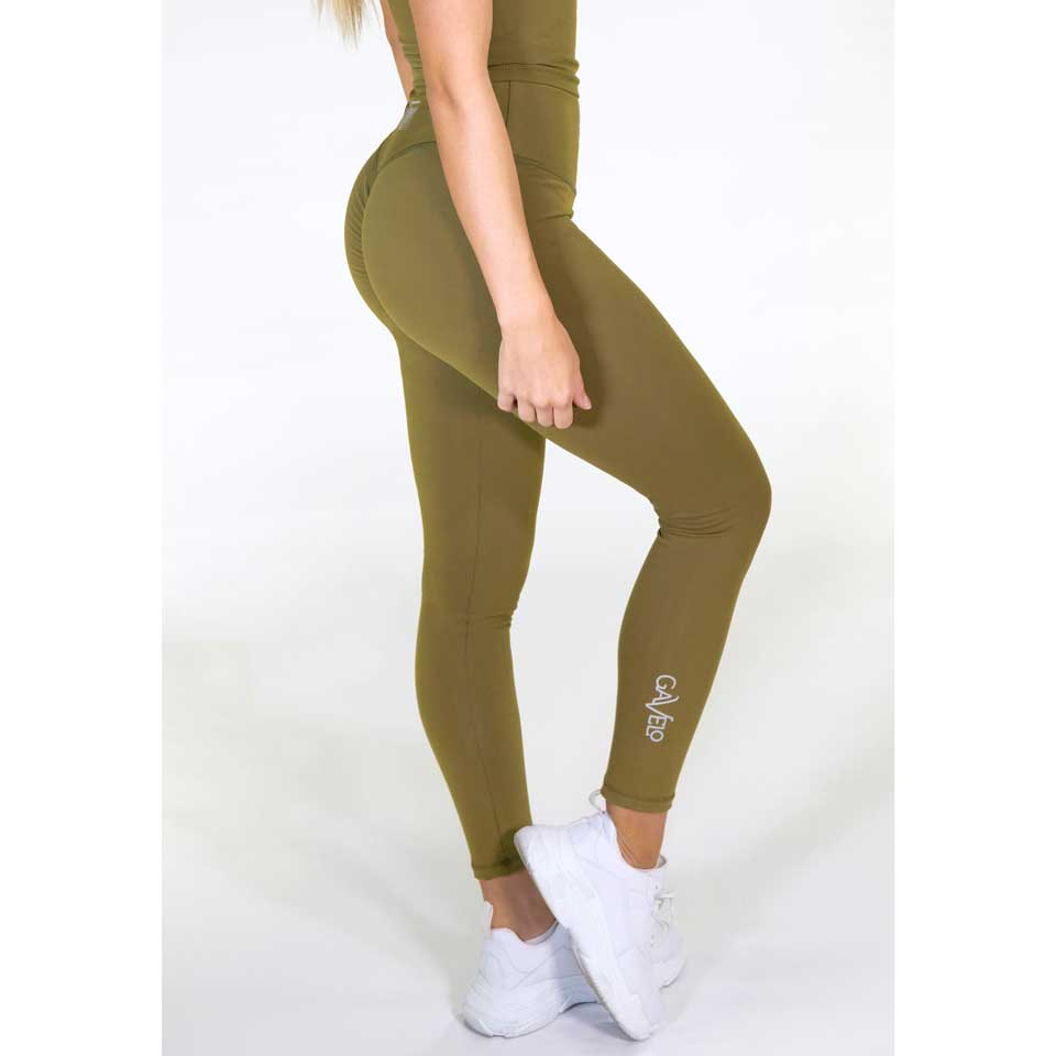 Gavelo Pop Tights Scrunch, Army Green
