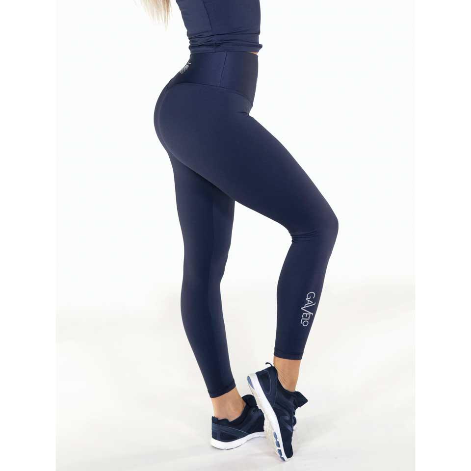 Höger sida av Gavelo Pop Tights Scrunch, Navy Blue träningstights