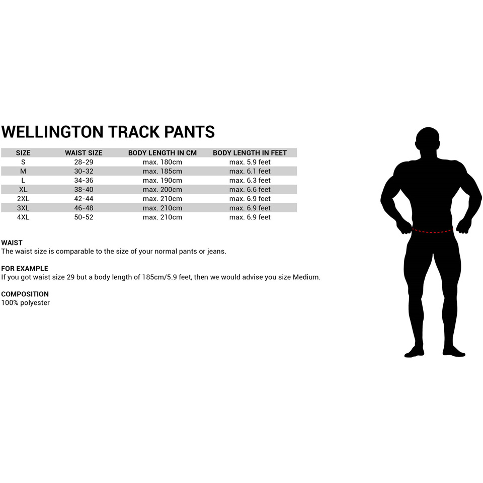 Gorilla Wear Wellington Track Pants Storleksguide