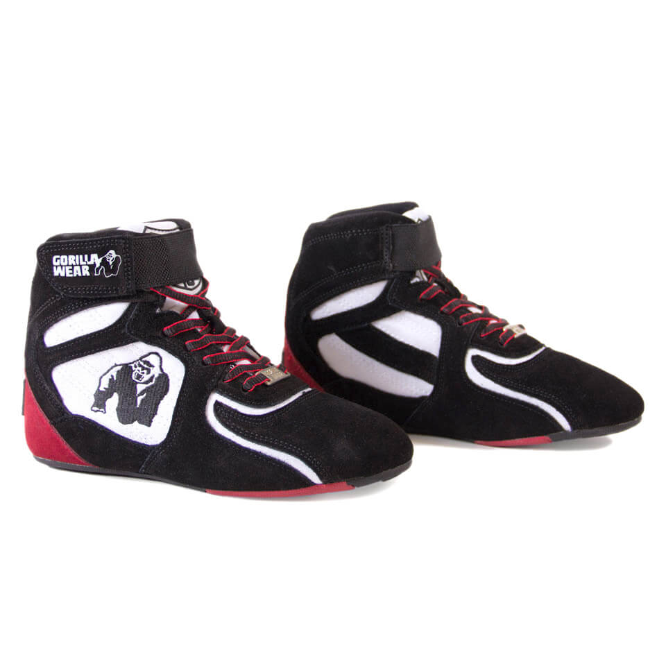 Gorilla Wear Chicago High Tops Black/White/Red 39 - Gorilla Wear