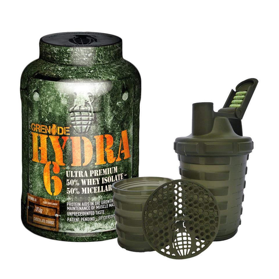 Grenade Hydra 6 + Shaker 1816 gram Chocolate Charge - Grenade
