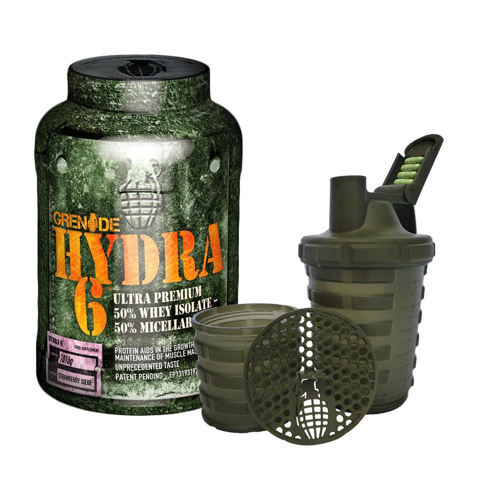 Grenade Hydra 6 + Shaker 1816 gram Strawberry Siege - Grenade