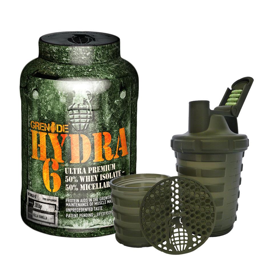 Grenade Hydra 6 + Shaker 1816 gram Killa Vanilla - Grenade