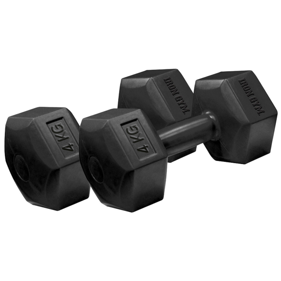 Iron Gym 4kg x 2 Fixed Hex Dumbbell