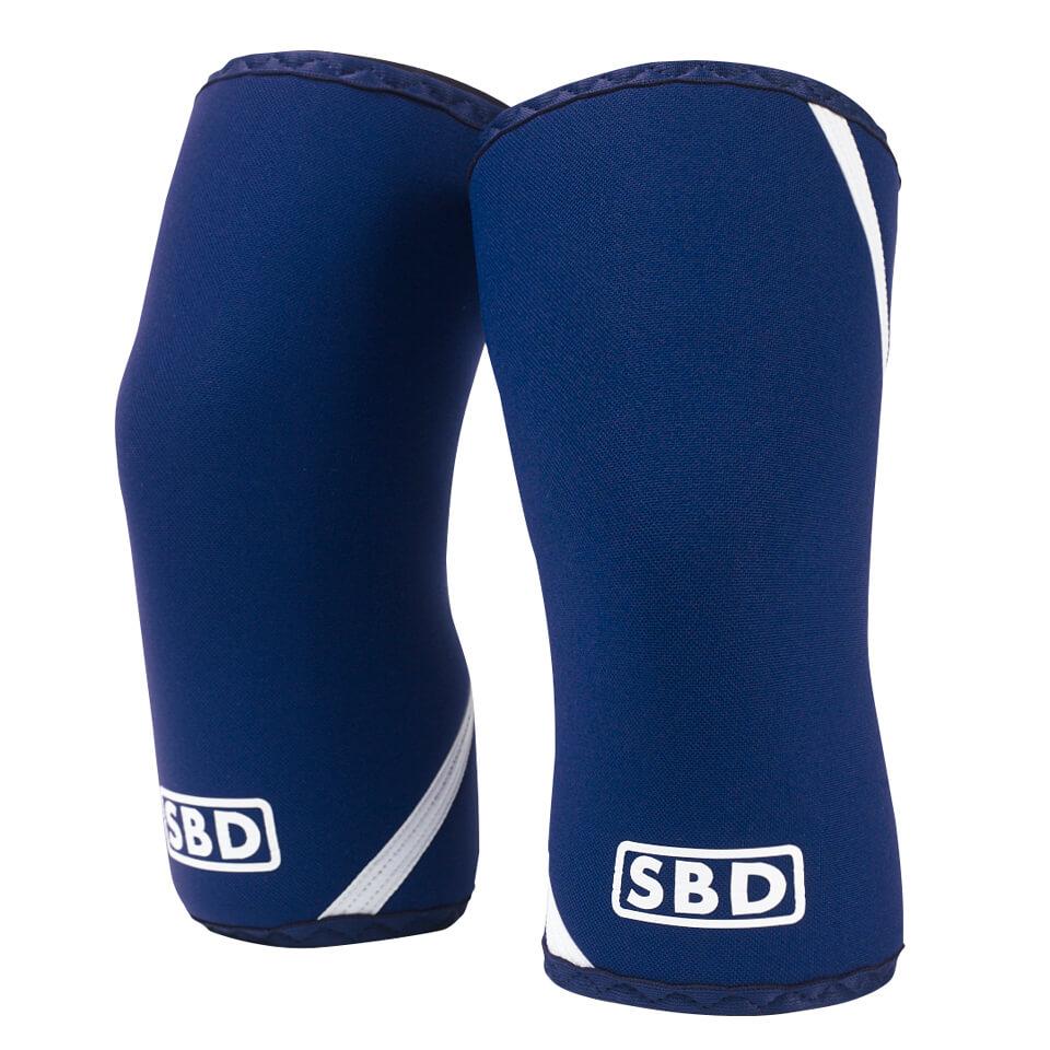 SBD Knee Sleeves, Blue/White