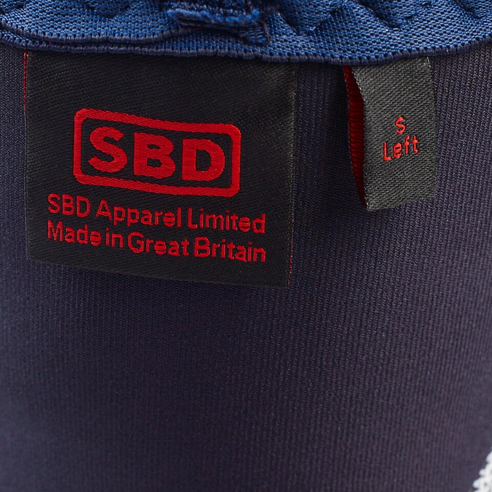 Insidan av SBD Knee Sleeves Blue/White