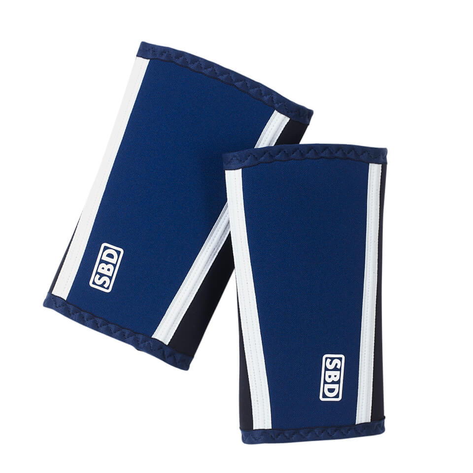 SBD Elbove Sleeves armbågsskydd i blå, svart och vit