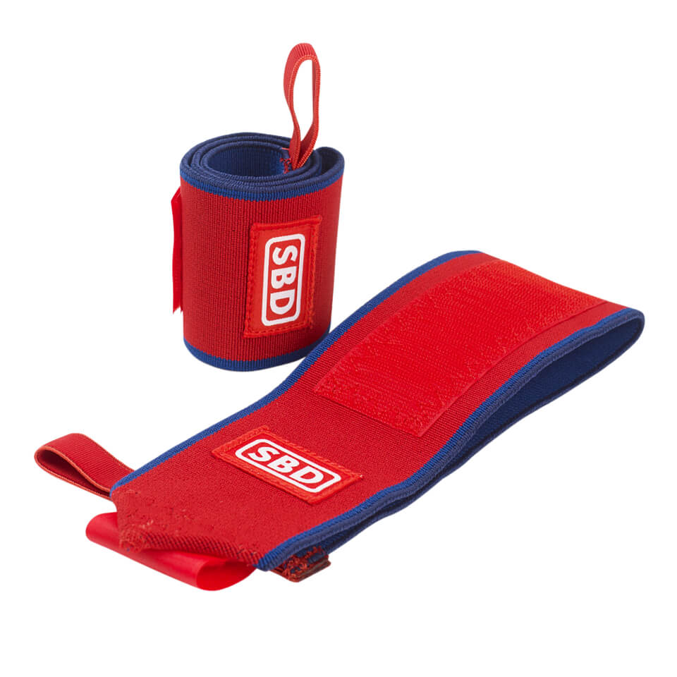 SBD Wrist Wraps Flexible, Red/Blue/White