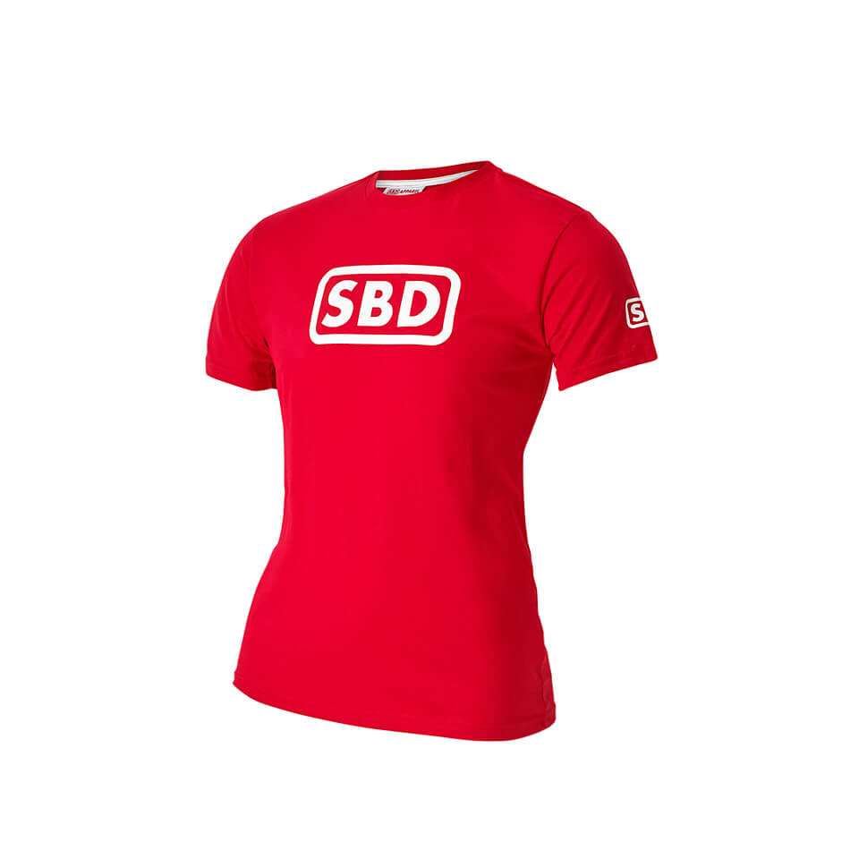 SBD T-Shirt Ladies, Red/White