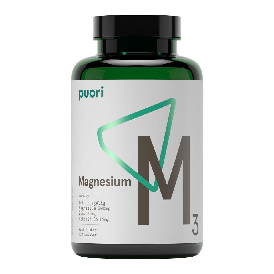 Puori M3 Magnesium / Zink 120 Kapslar - Puori