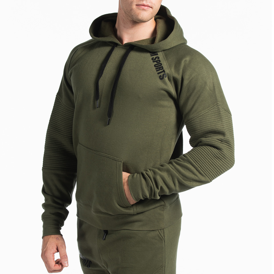 MM Sports Basic Hoodie Christian Army Green Front