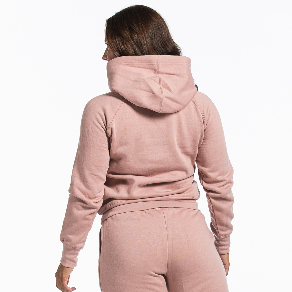 MM Sports Basic Hoodie Christie Dusty Pink Back