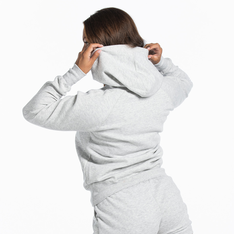 MM Sports Basic Hoodie Christie Light Greymelange Back