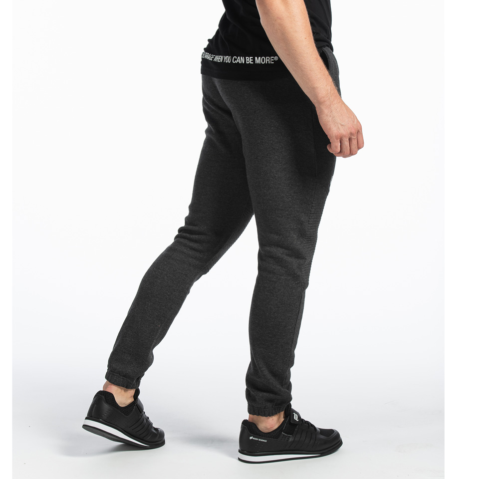 MM Sports Basic Pants Christian Dark Greymelange byxor bakifrån