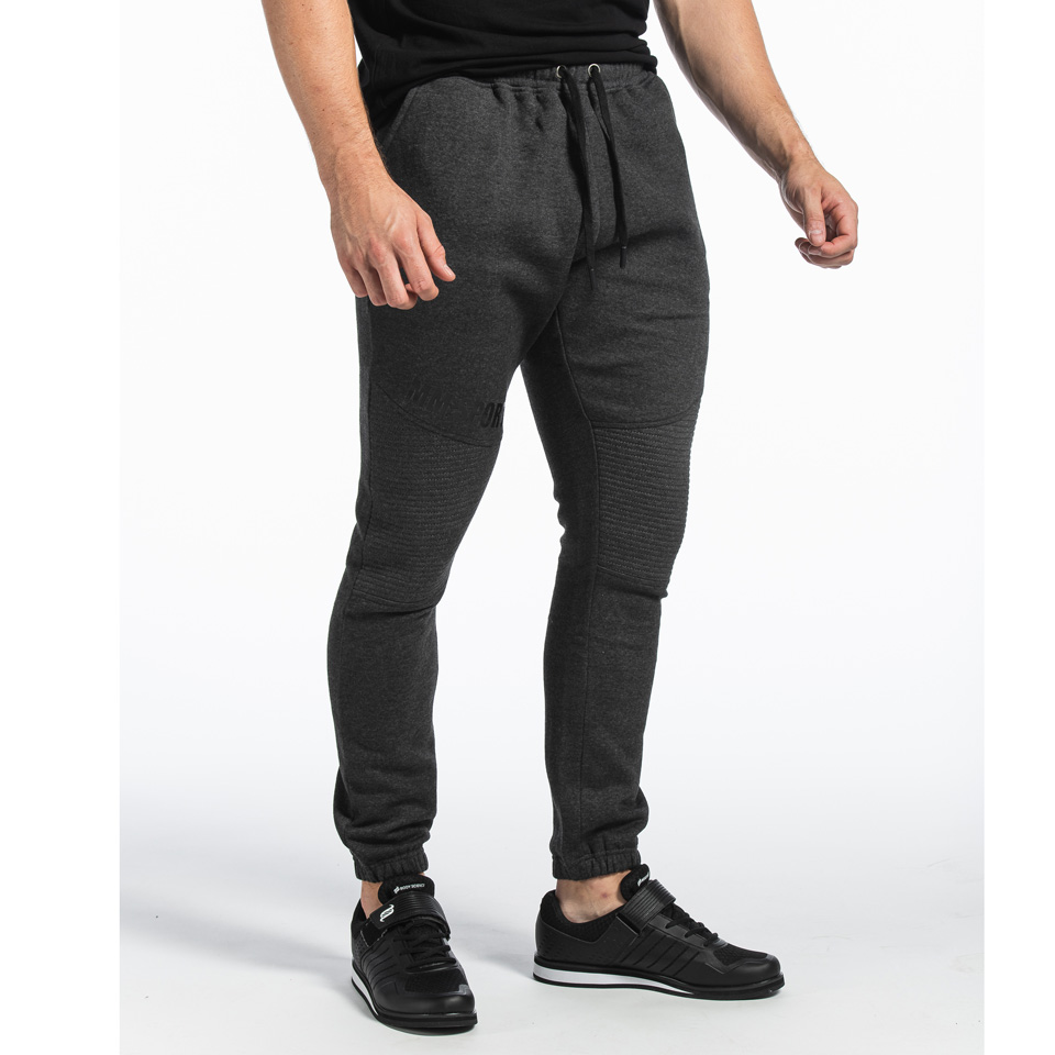 MM Sports Basic Pants Christian Dark Greymelange byxor från sidan