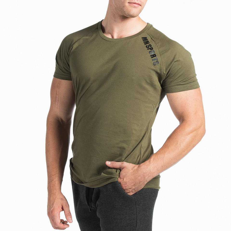 MM Sports Basic Raglan Tee Christian Army Green Front