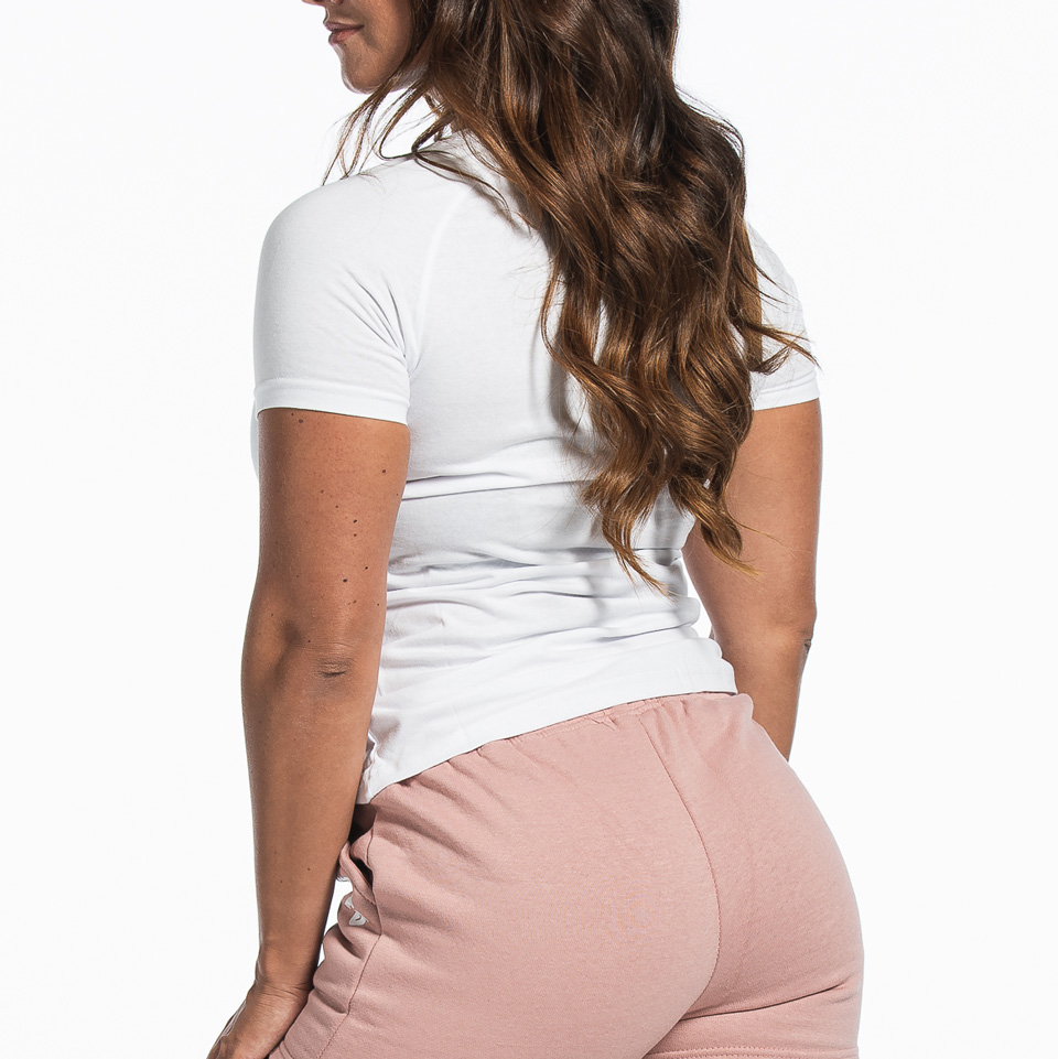 MM Sports Basic Raglan Tee Christie White Back