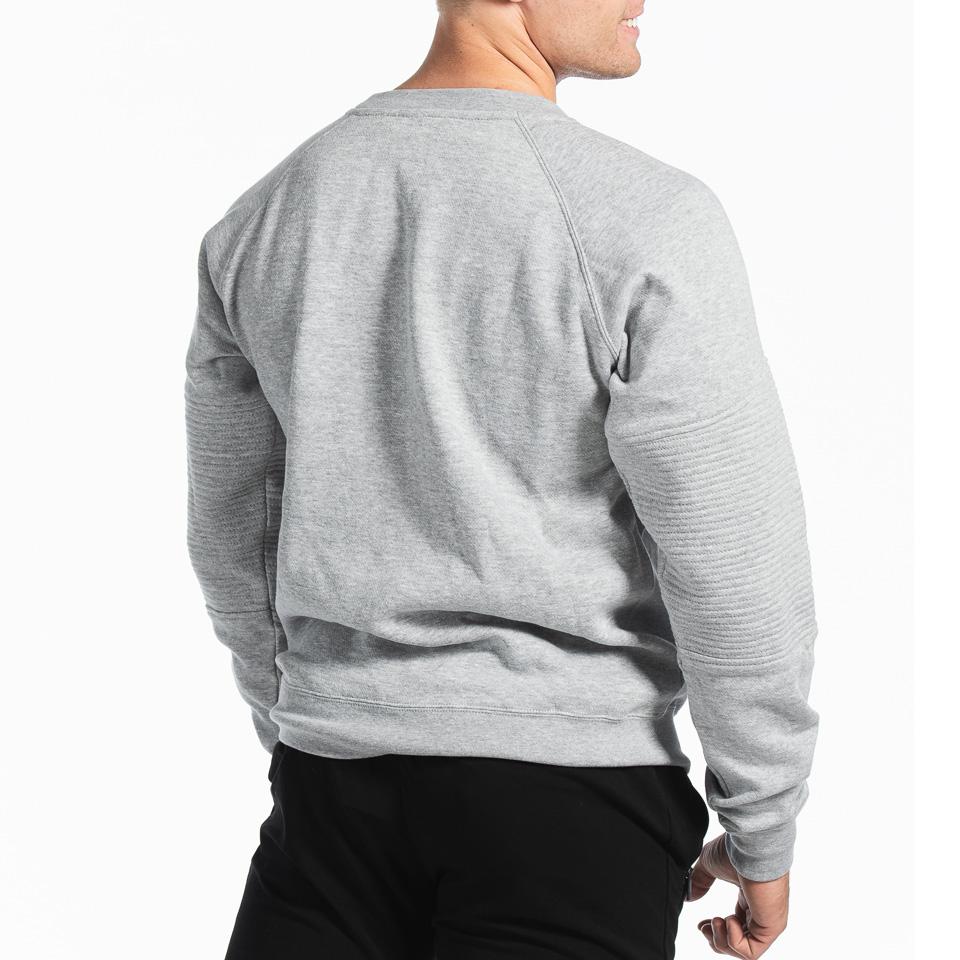 MM Sports Basic Sweater Christian Light Greymelange Back