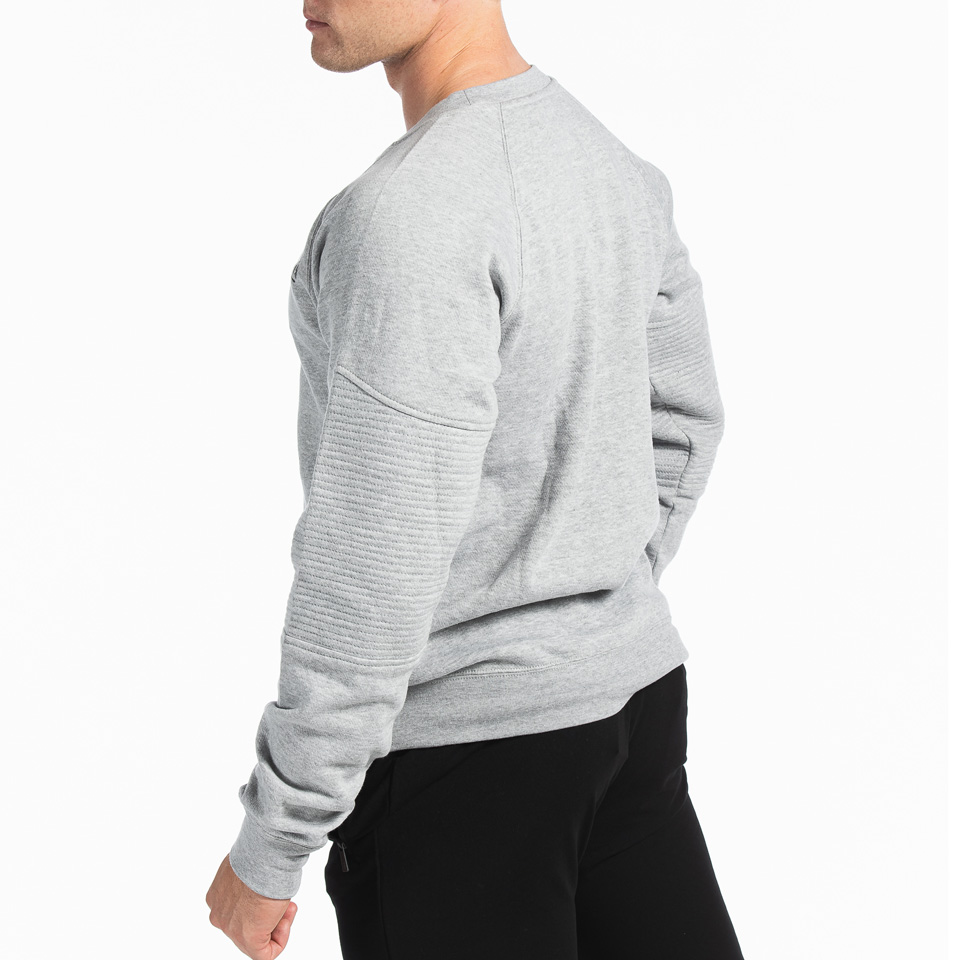 MM Sports Basic Sweater Christian Light Greymelange Side