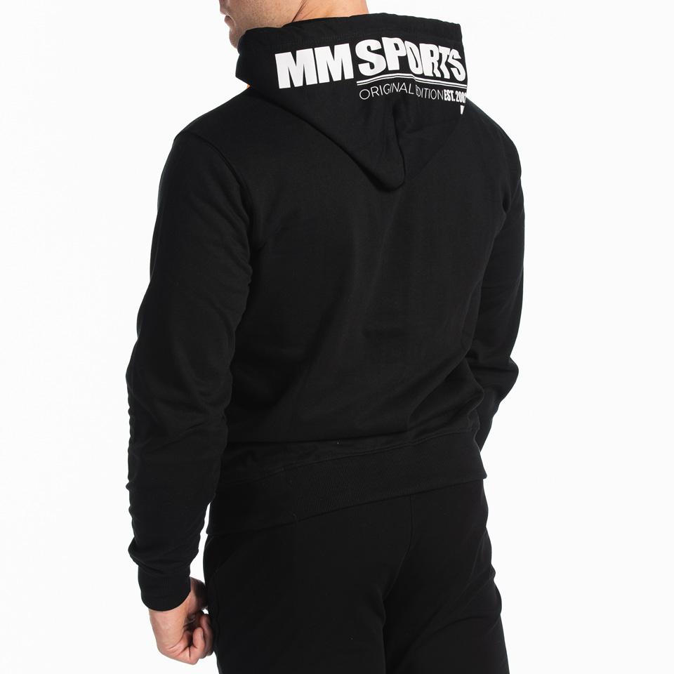 MM Sports MM Hood Est 2002 Winston, Black/Orange, Back