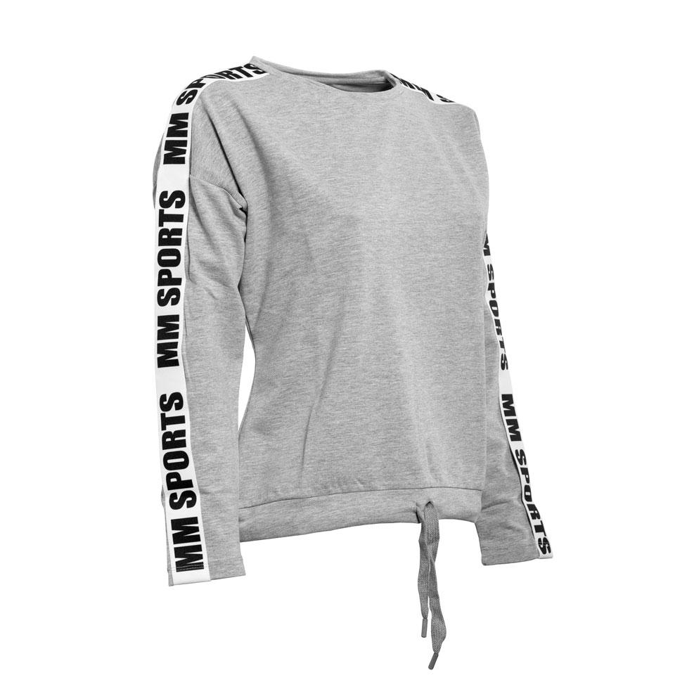 Logo Sweater Ava, Greymelange/Black