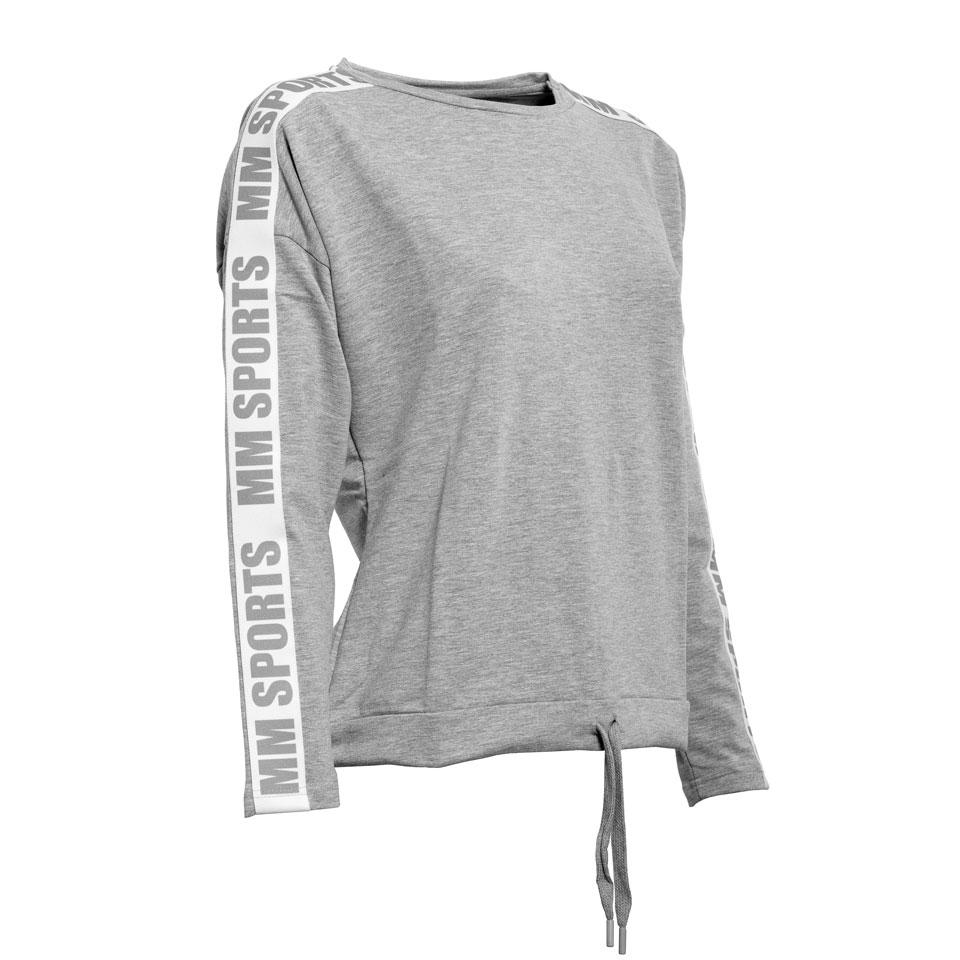 Logo Sweater Ava, Greymelange/Grey