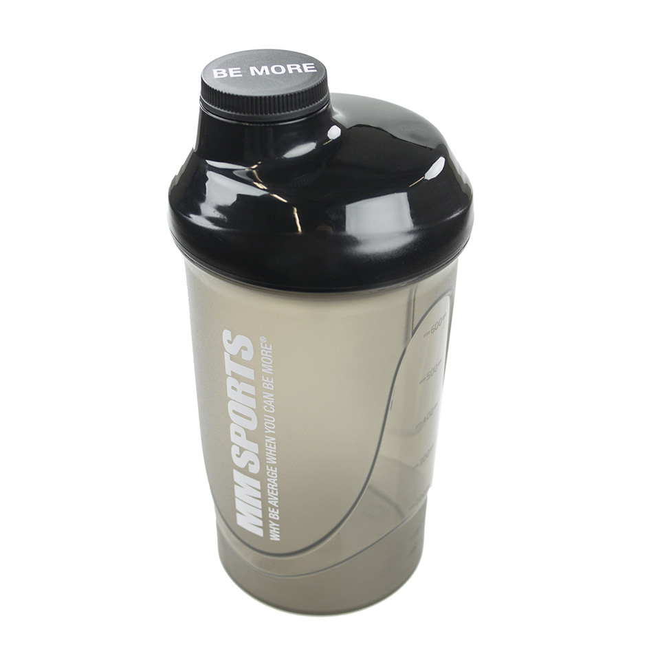 MM Sports Shaker, 600 ml, Black - Träningstillbehör - MM Sports