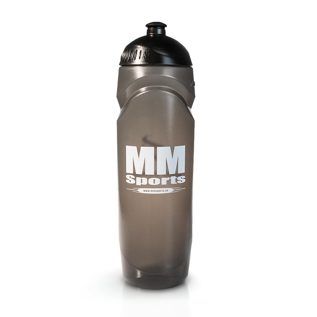 Vattenflaska – MM Sports Water Bottle, 750 ml, Black - Träningstillbehör - MM Sports