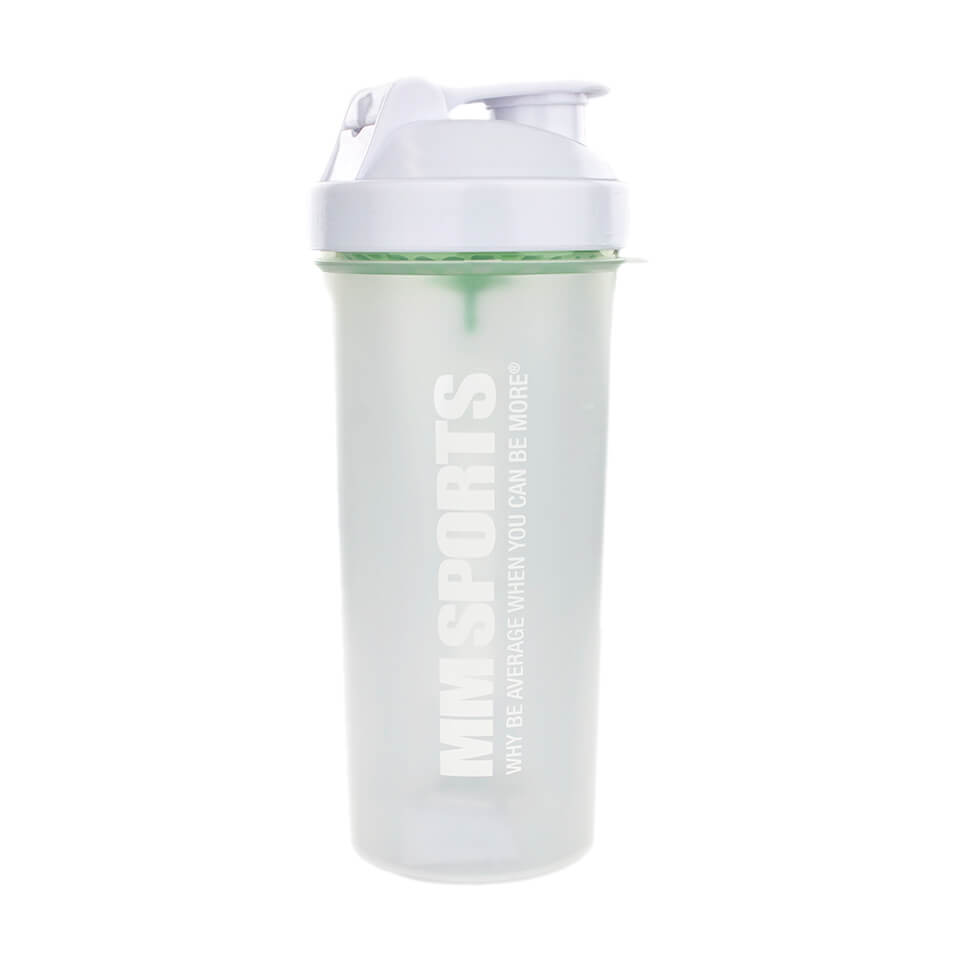 Shaker – SmartShake Transparent, 1L, White - MM Sports - Träningstillbehör - MM Sports