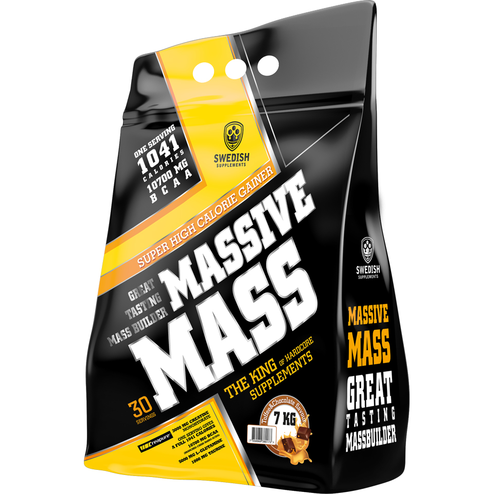 Swedish Supplements Massive Mass, 7000 gram 7 kg Chocolate & Toffee - Swedish Supplements