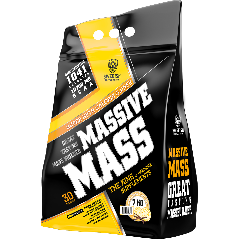 Swedish Supplements Massive Mass, 7000 gram 7 kg Vanilla Gelato Cream - Swedish Supplements