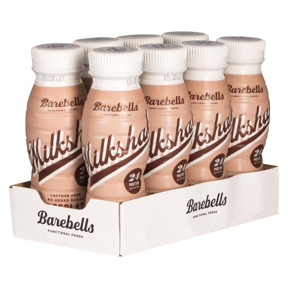 8 stycken Barebells Milkshake Chocolate