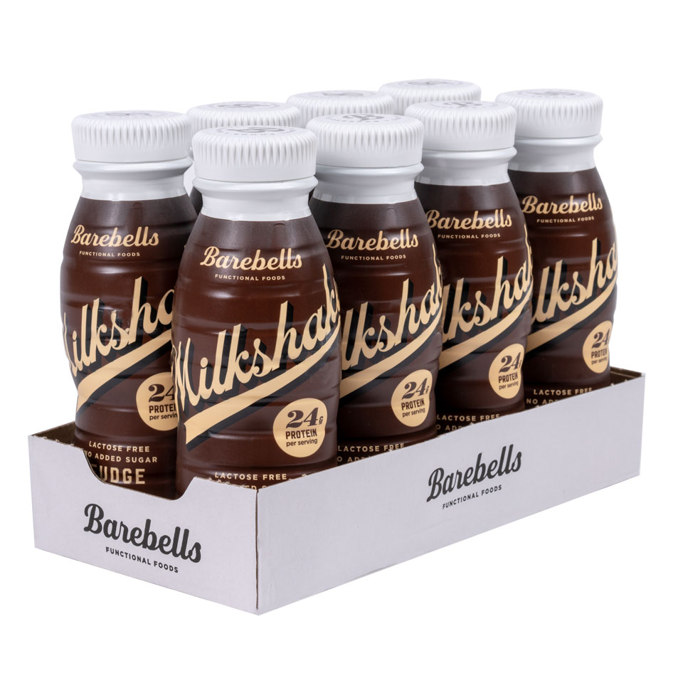 8 stycken Barebells Milkshake Fudge