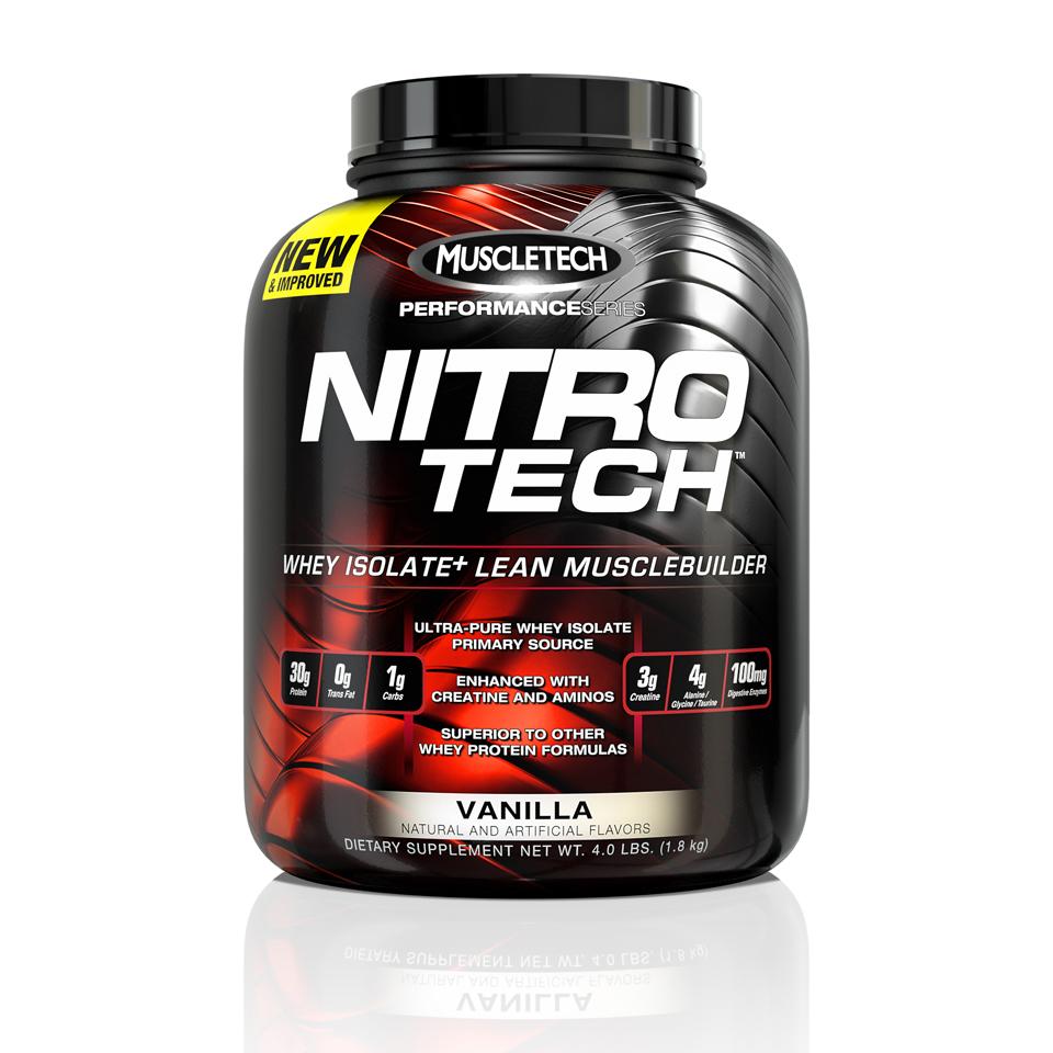 MuscleTech Performance Series - Nitro-Tech Vanilla 1,8 kg - MuscleTech