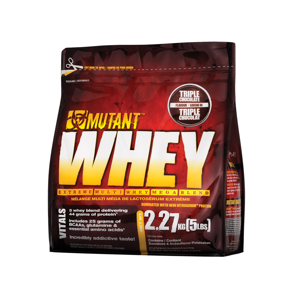Mutant Whey Triple Chocolate 2,27 kg - Mutant