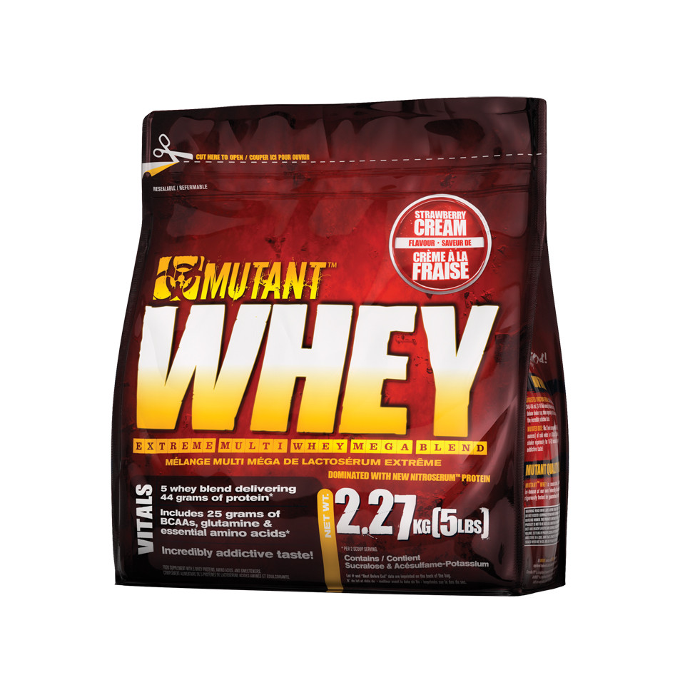 Mutant Whey Strawberry Cream 2,27 kg - Mutant
