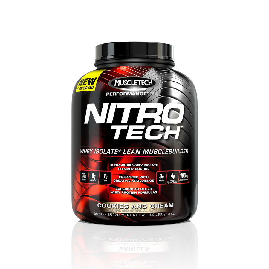 MuscleTech Performance Series - Nitro-Tech 1,8 kg Cookies and Cream - MuscleTech