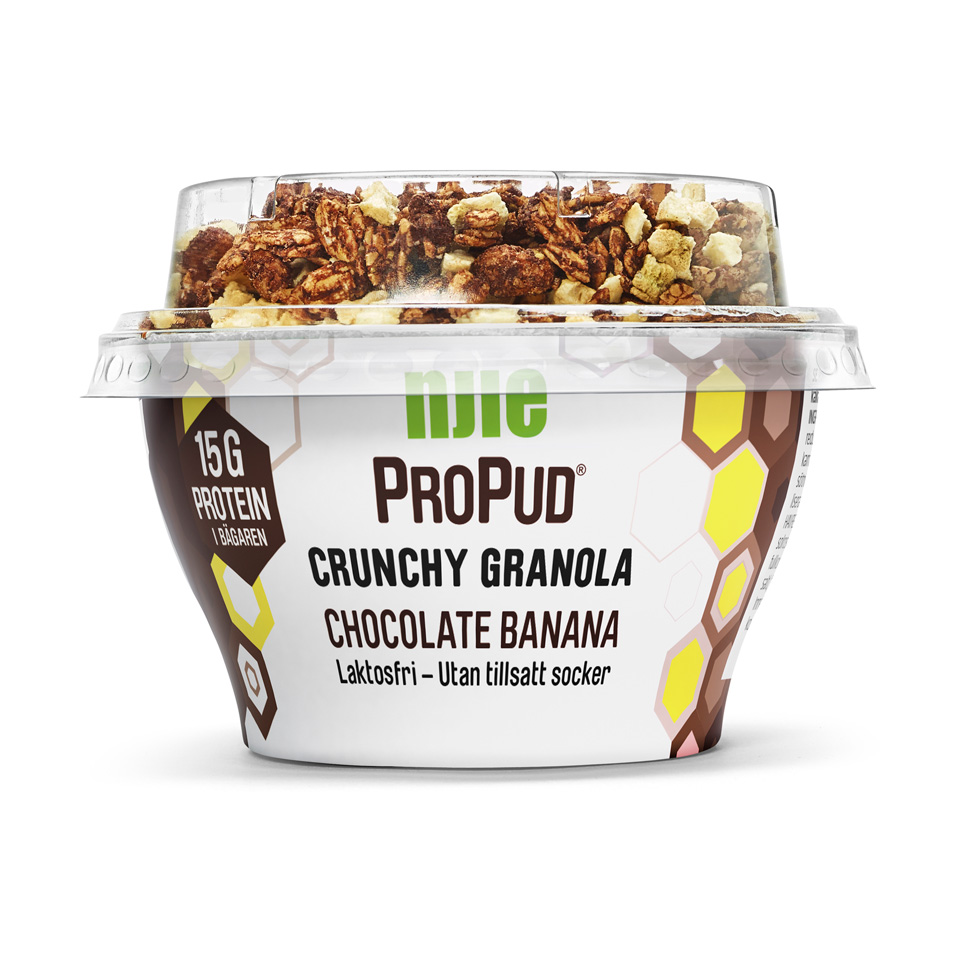 NJIE ProPud Crunchy Granola 165 gram Chocolate Banana - Njie
