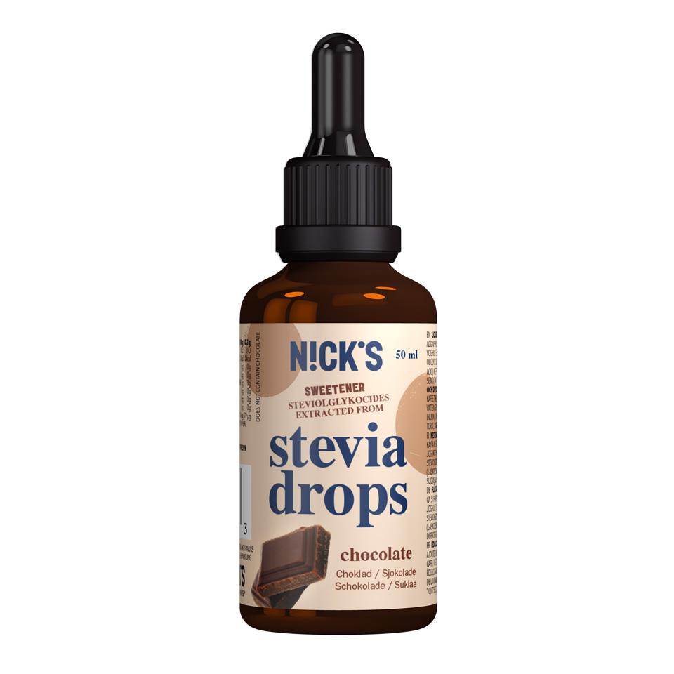 Nick's Stevia Drops 50 ml Chocolate - Nick's