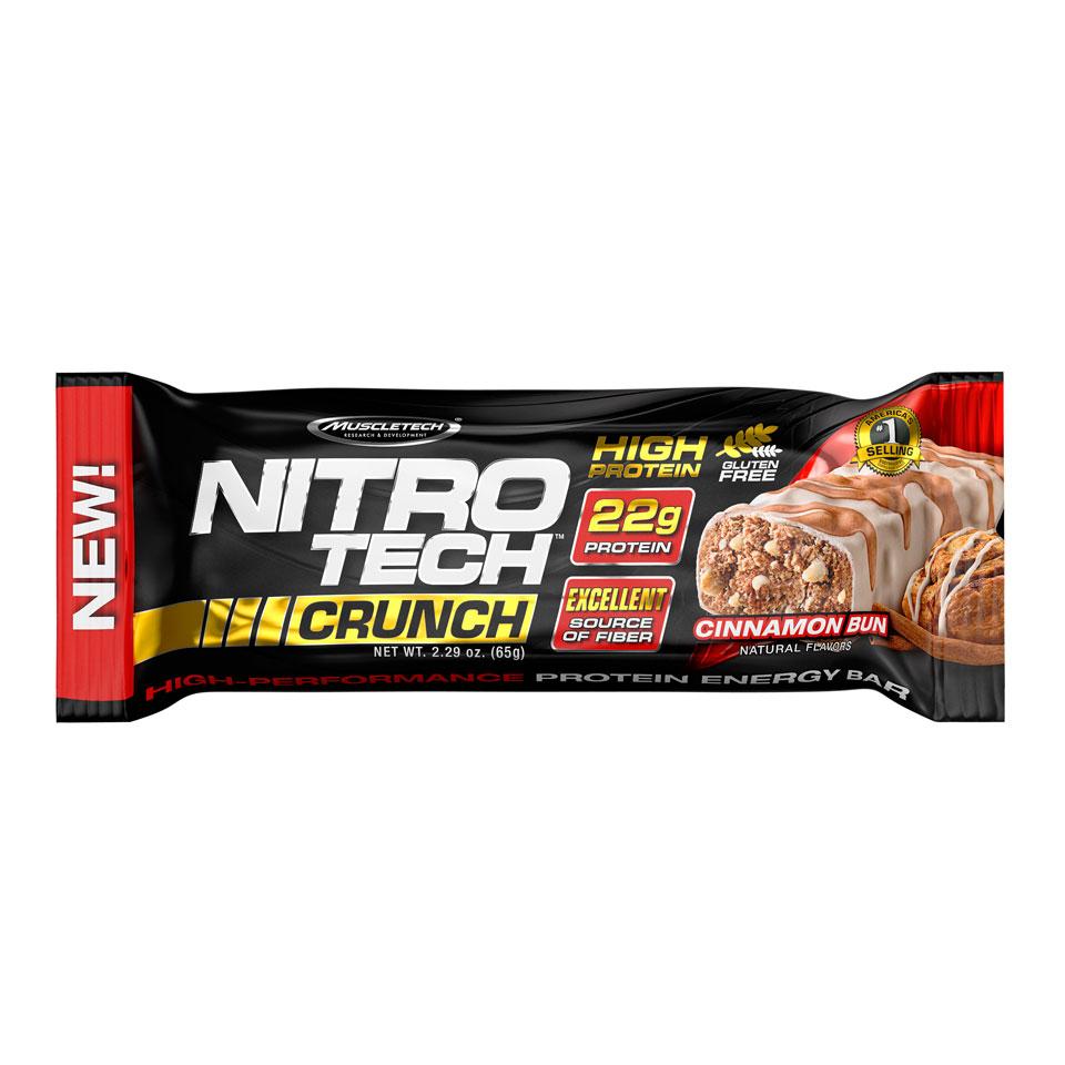 MuscleTech Nitro-Tech Crunch Cinnamon Bun - MuscleTech