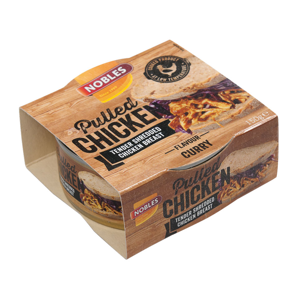 Nobles Pulled/Chunks 150 gram Pulled Chicken Curry - Nobles