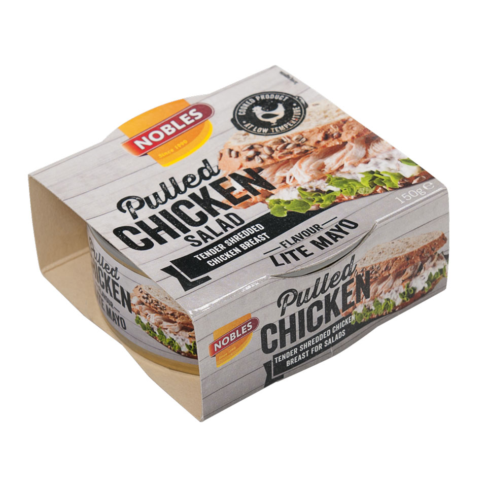 Nobles Pulled/Chunks 150 gram Pulled Chicken Mayo - Nobles